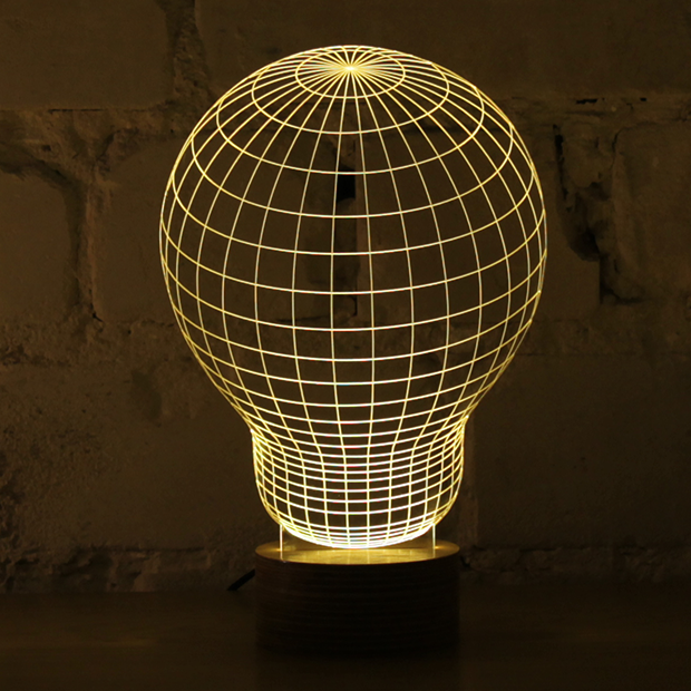 Simply Creative: Bulbing - Optical Illusion 2D Lamp