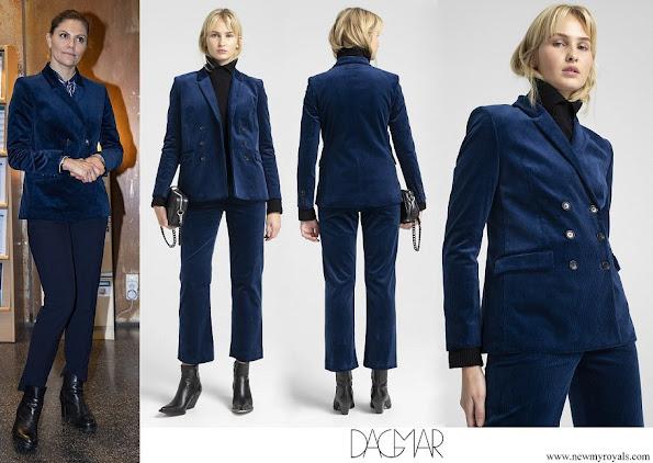 Crown Princess Victoria wore Dagmar Tuva cord blazer