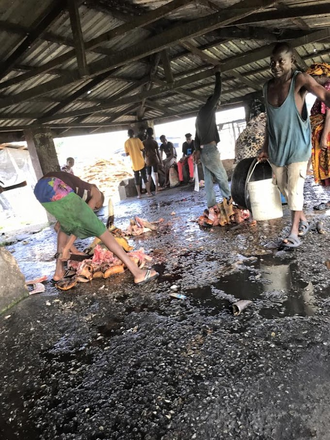 Photos from a slaughterhouse in Edo State that got people talking