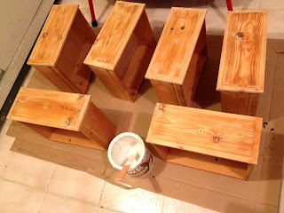 pine dressing table drawers sanded