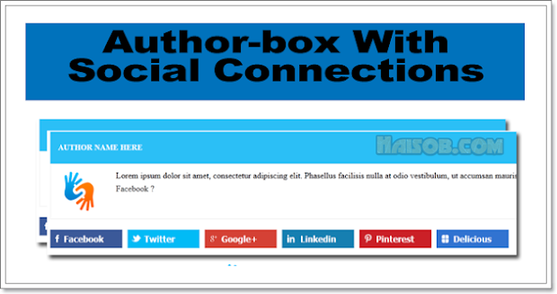 Author Box With Social Connection