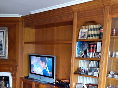 Ampliación de librería de madera por Carpintero Zaragoza