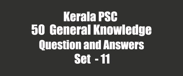 50 Important General Knowledge Question and Answers 11