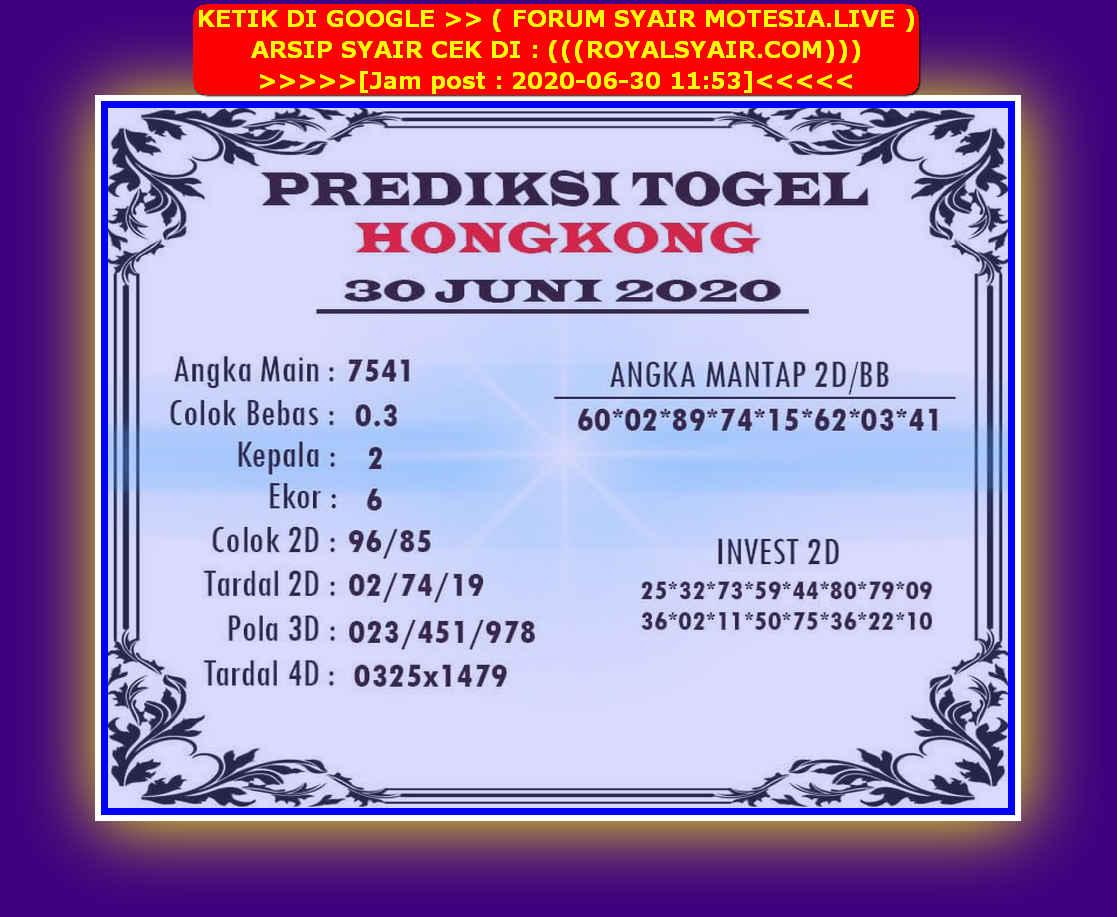 Kode syair Hongkong Selasa 30 Juni 2020 189
