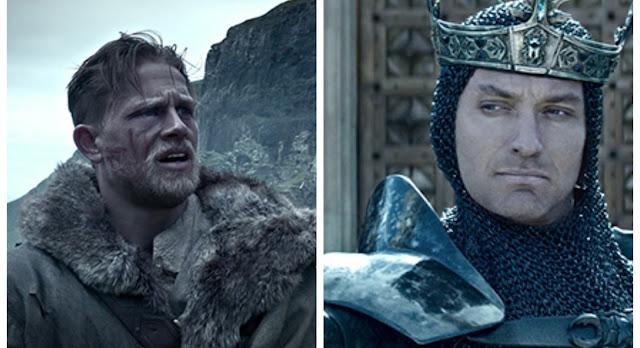 Rei Arthur: A Lenda da Espada | Jude Law e Charlie Hunnam em imagens inéditas do épico