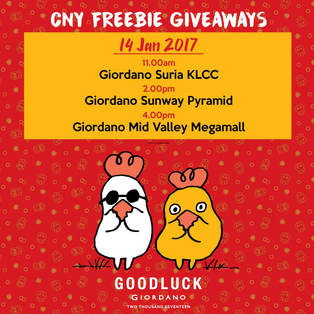 Giordano Free Discount Vouchers and Freebies Giveaway Suria KLCC – Free Discount Vouchers