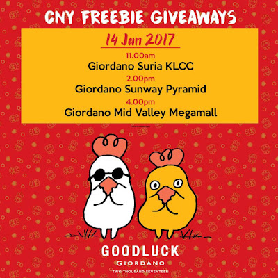 Giordano Malaysia Discount Voucher Freebies Giveaway Promo