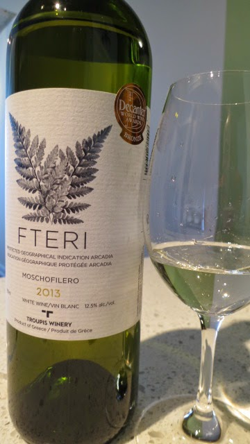2013 Troupis Fteri Moschofilero from IGP Arcadia, Peloponnese, Greece (87 pts)