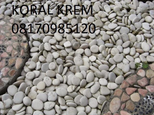 Batu Alam Koral Pebble Lombok