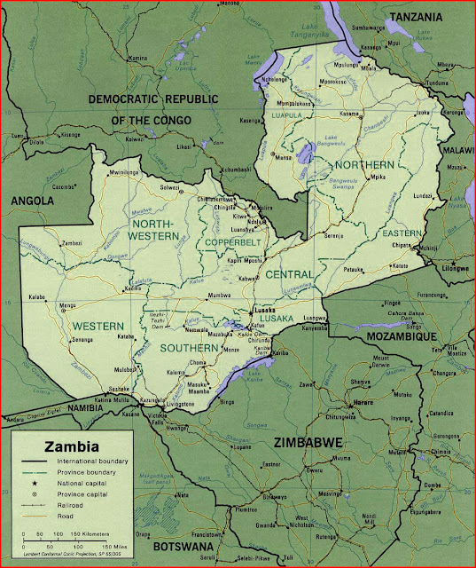 image: Zambia political Map