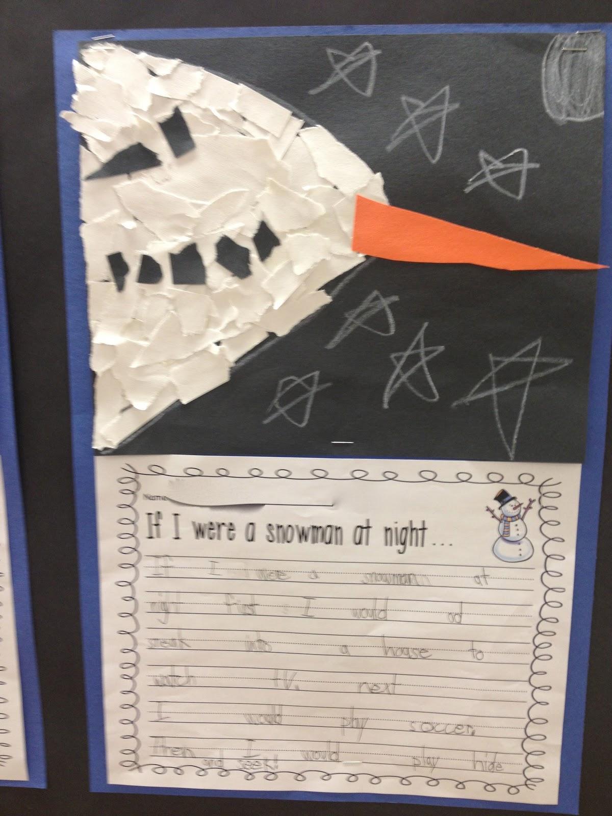 First Grade Smiles Snowmen At Night