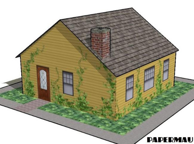 Papermau A Simple Family House Paper Model By Papermau
