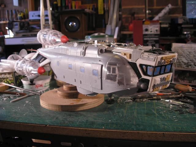 RC Sci Fi Kit Bash Shuttlecraft part 2