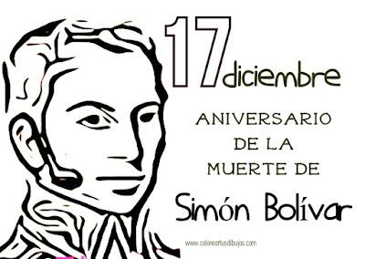 colorear Aniversario de la muerte de Simón Bolívar