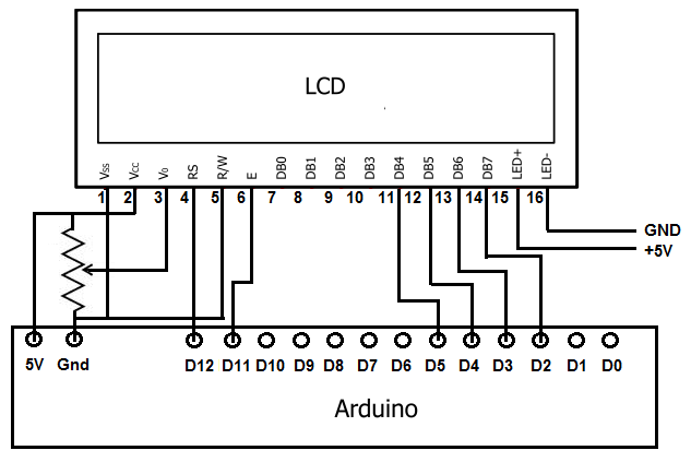 arduino hd44780 circuit schematic