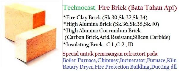 Berbagai Macam Type Fire Brick SK
