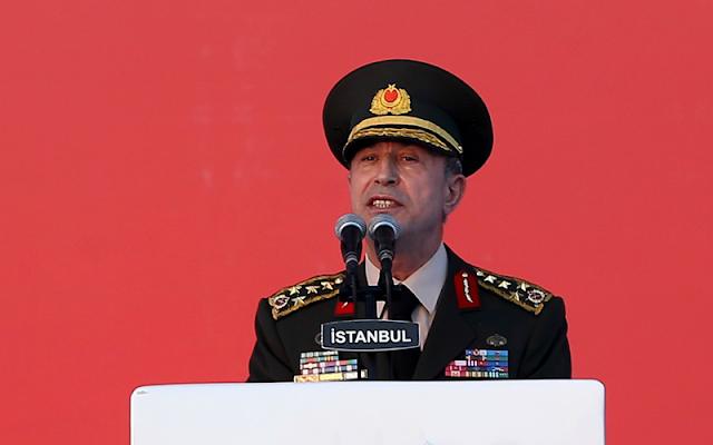 O αρχηγός των Τουρκικών Ενόπλων Δυνάμεων, στρατηγός Χουλουσί Ακάρ, σύμφωνα με δημοσίευμα της εφημερίδας Χουριέτ, έστειλε την Δευτέρα γραπτές απαντήσεις σε κοινοβουλευτική επιτροπή της χώρας που ερευνά το αποτυχημένο πραξικόπημα της 15ης Ιουλίου 2016.