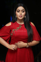Poorna in Maroon Dress at Rakshasi movie Press meet Cute Pics ~  Exclusive 94.JPG