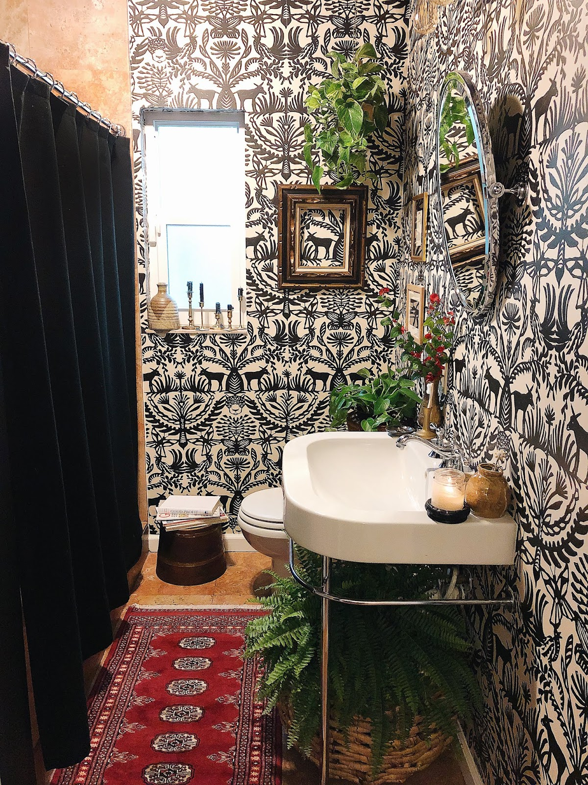 arte boheme, miami interior design, miami interior designer, miami blogger, bathroom makeover, bohemian bathroom, boho decor, boho bathroom, Opalhouse, opalhouse wallpaper