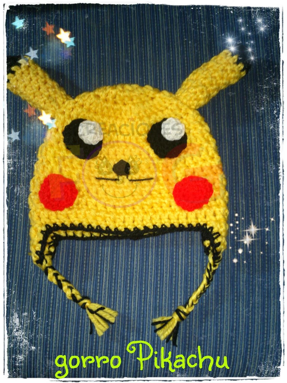 Olguigurumis: Gorro crochet Pikachu