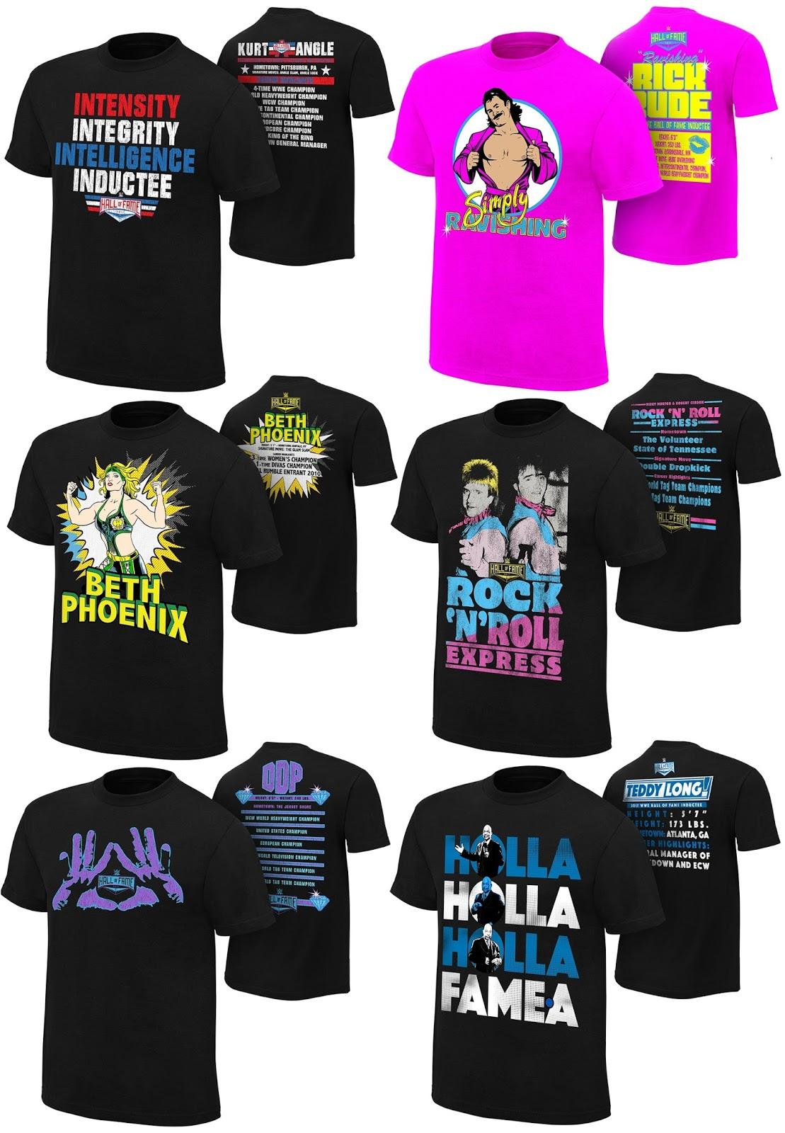 ddc976f79 WWE Hall of Fame 2017 T-Shirt Collection - Kurt Angle, Diamond Dallas Page