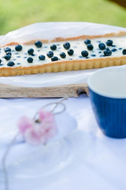 Blaubeer Tarte mit Panna Cotta, Pomponetti, Rezept