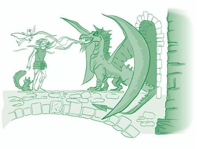 El caballero de la armadura oxidada-El castillo de la voluntad y la osadía-ilustración: Mario Diniz-© FAD 2009