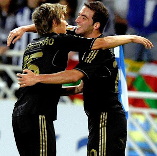 Higuain and Coentrao performanced the only goal of the clash