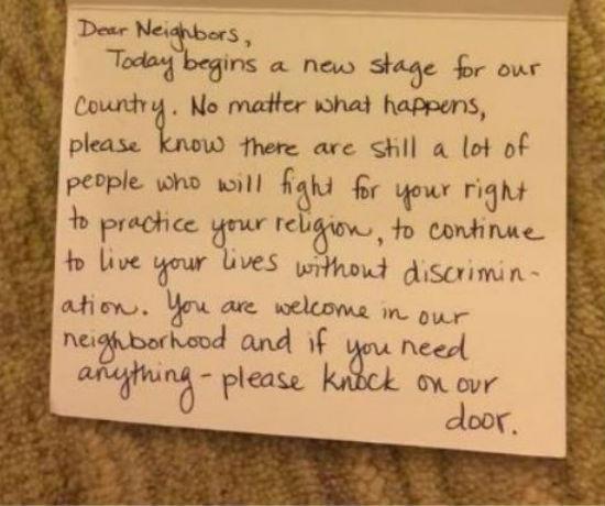 Nota Sokongan Penduduk Islam AS Jadi Viral Dimedia Sosial