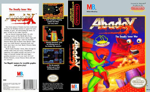Capa Abadox The Deadly Inner War NES