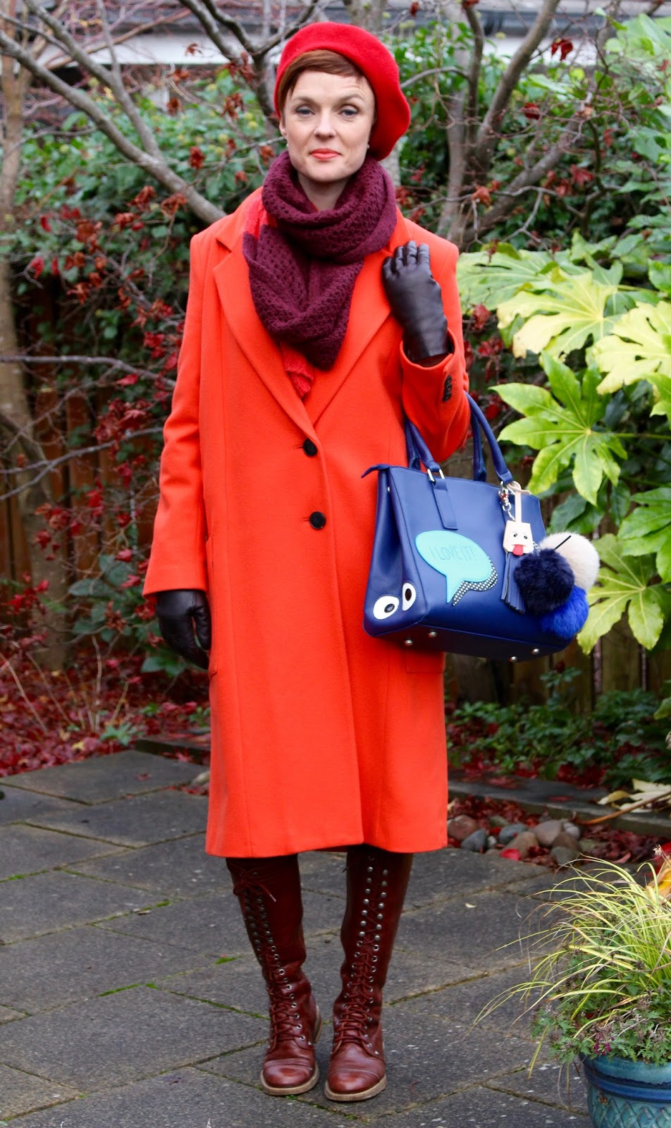 Wearing red from Head to Toe in Winter | Fake Fabulous