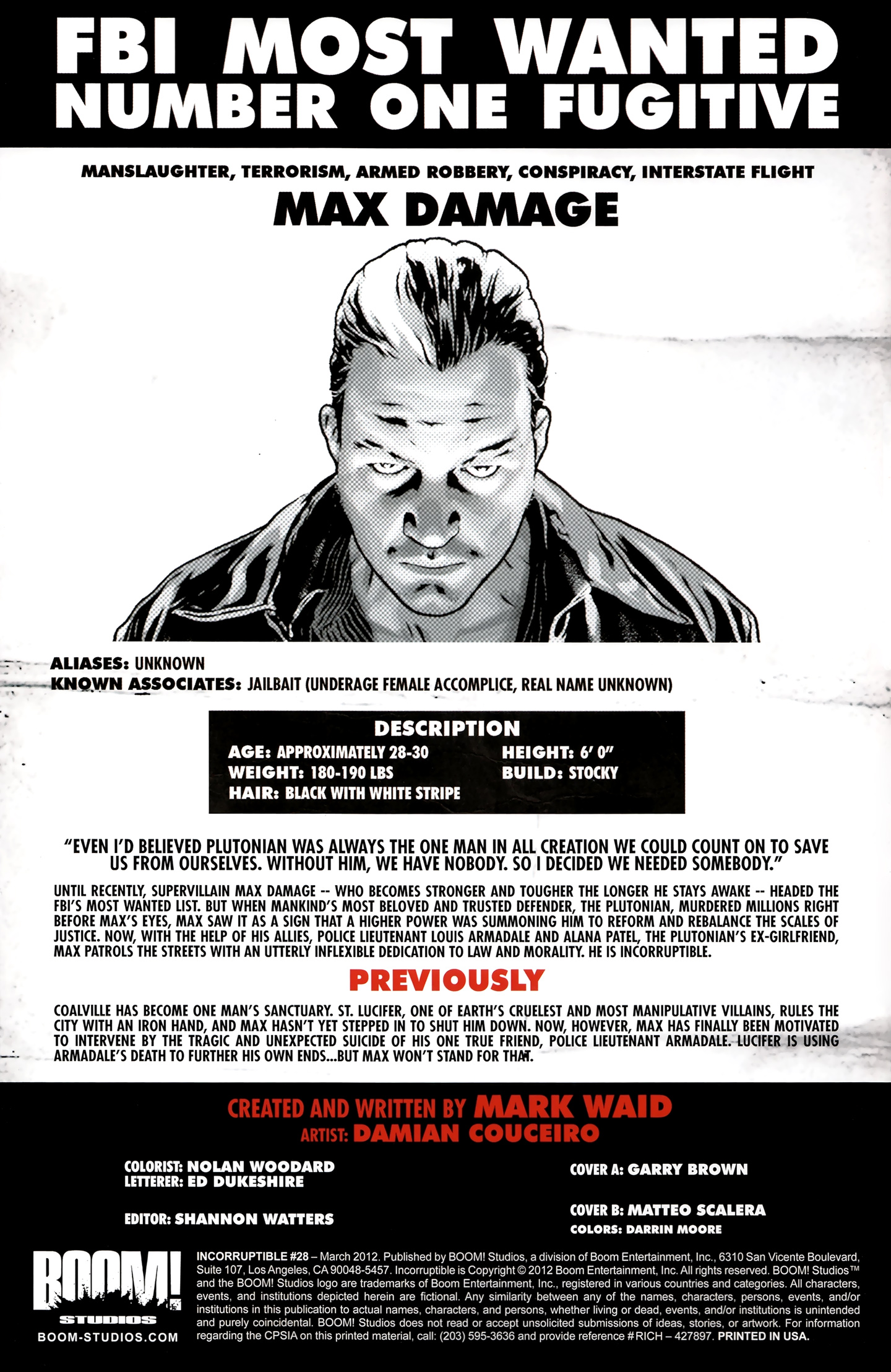Read online Incorruptible comic -  Issue #28 - 3