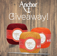 Logo Prova a vincere i kit Anchor Crafts composti da 1 telaio da ricamo Milward + 3 gomitoli Freccia