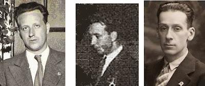 Los ajedrecistas Plácido Soler, V. Casanovas y Antonio G. Castellá