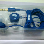 Earphones with included earpieces in small, medium, and large sizes