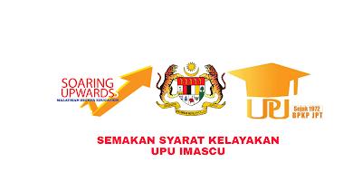 Semakan Syarat Kelayakan UPU iMASCU 2019