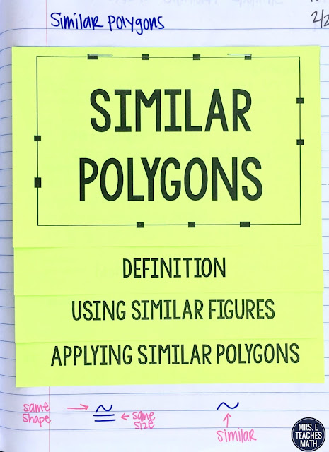 Similar Polygons Flipbook for Geometry