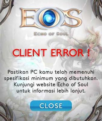Solusi Client Error EOS Indonesia Gemscool
