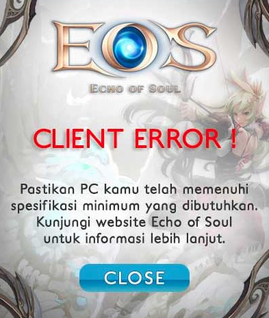 Cara Mengatasi Error Client Game EOS Indonesia Gemscool