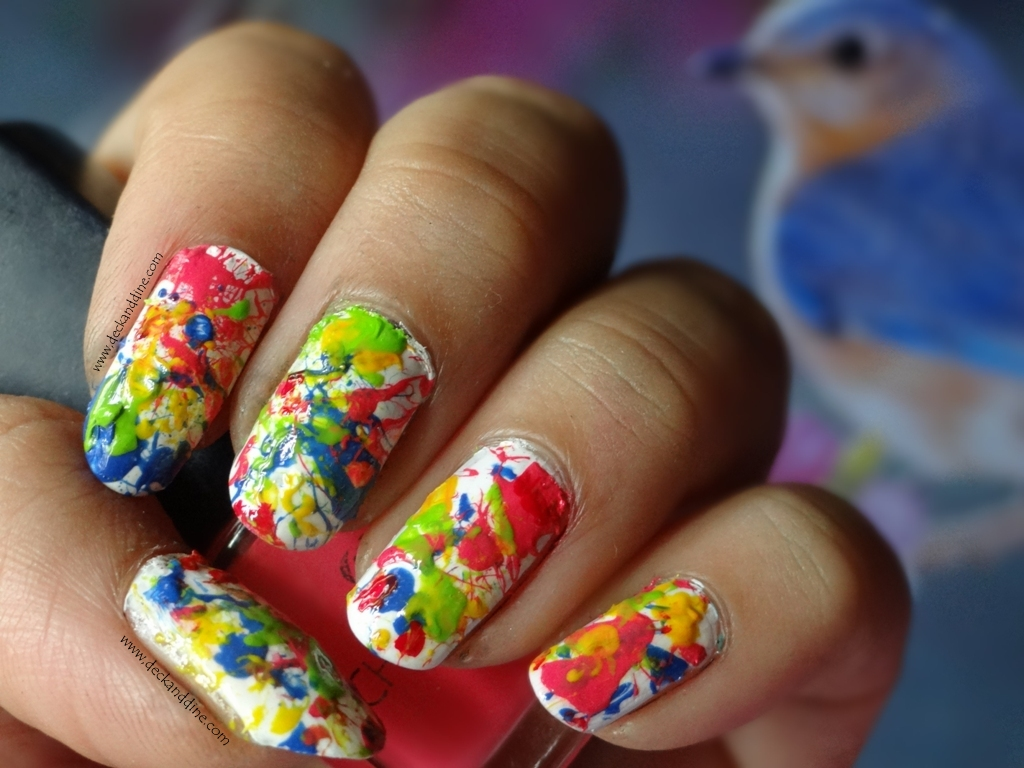 Splatter Nail Art Tutorial Deck And Dine