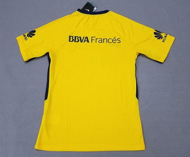 2017 18 Boca Juniors Away Yellow Jersey