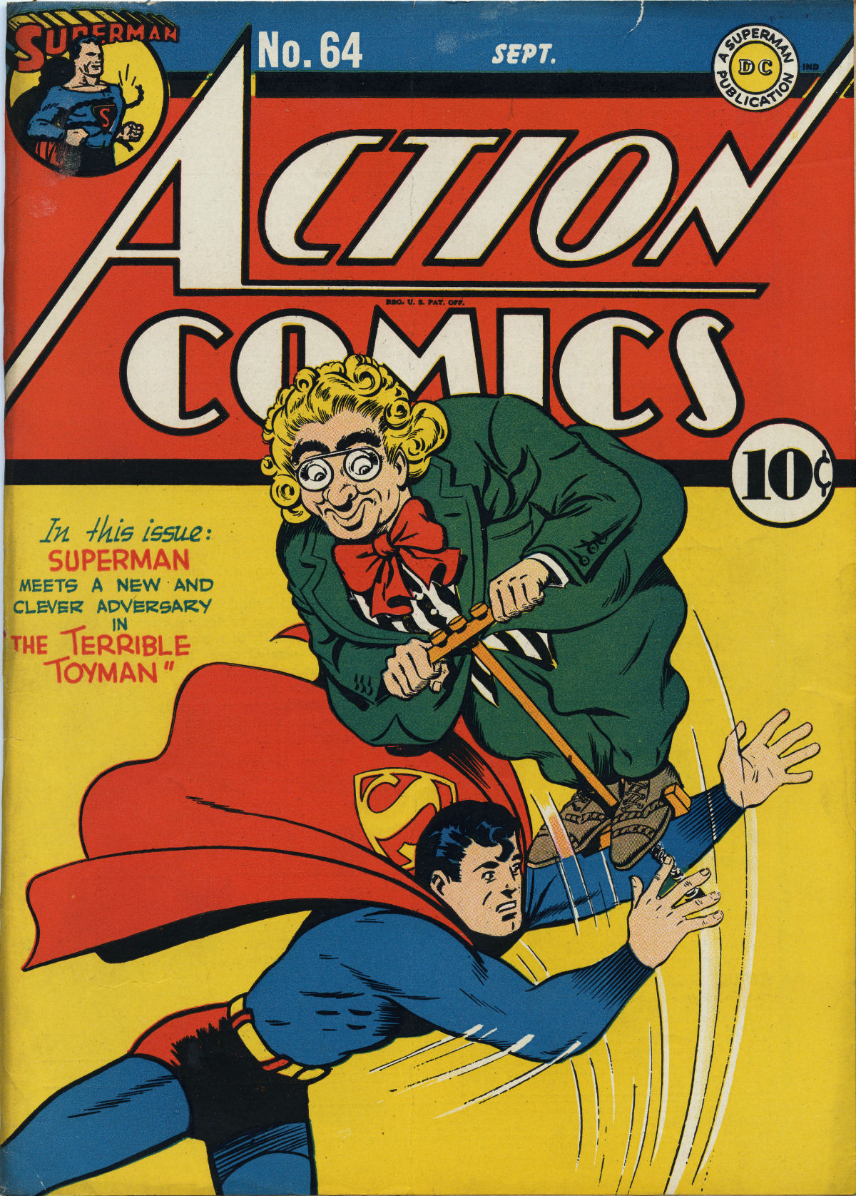 Read online Action Comics (1938) comic -  Issue #64 - 1