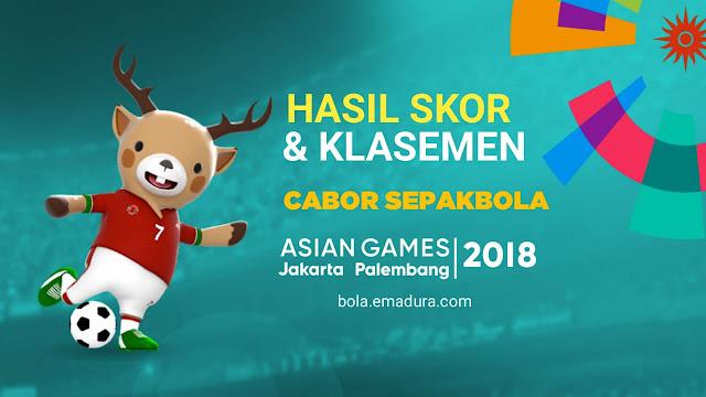Gambar Klasemen sepakbola asian games 2018 timnas u23 Indonesia