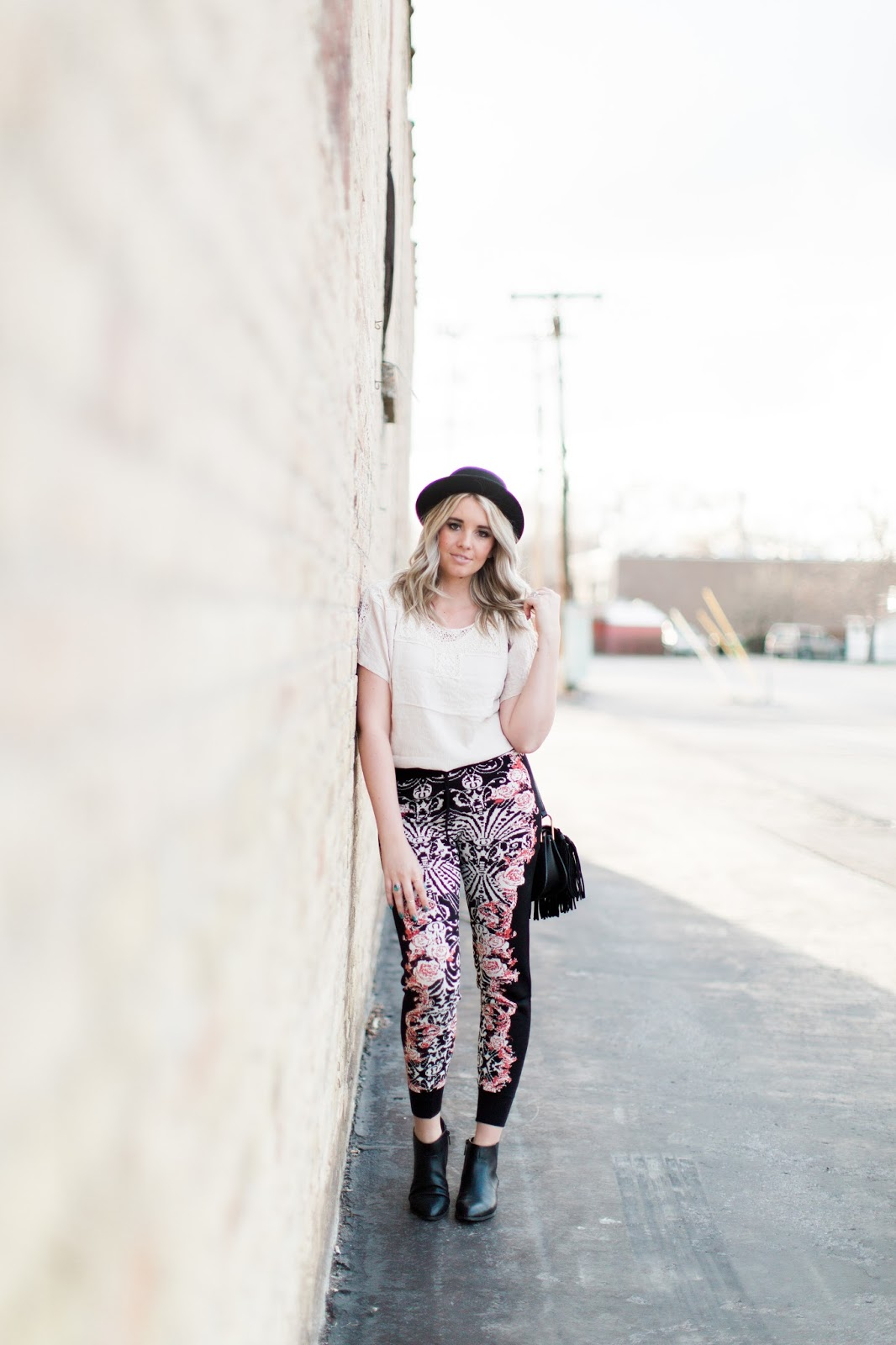 Modest Outfit, Floral Printed Joggers, Spring Outfit