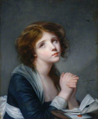 A Girl in Prayer, Jeanne Philiberte Ledoux
