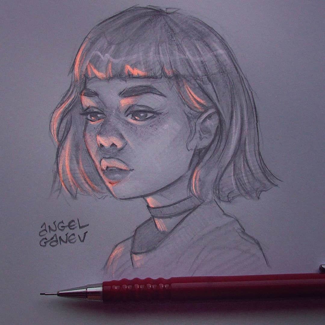 04-Under-Lighting-Angel-Ganev-Luminous-Pencil-Portraits-that-Glow-www-designstack-co