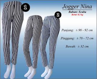 tampil trendy dengan celana jogger scuba panjang