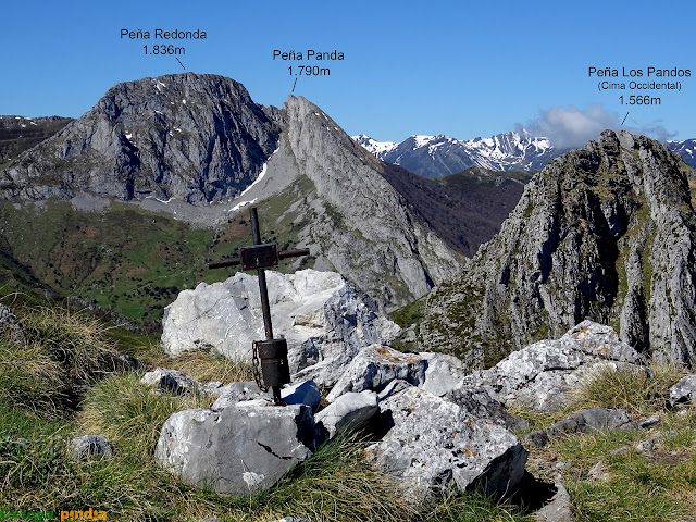 Cruz de cima en Peña Melera