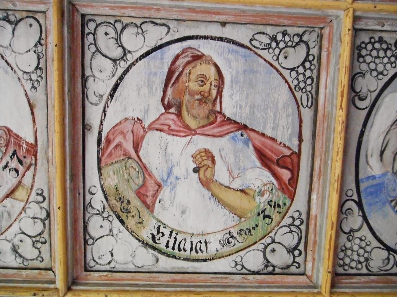 wystrój kościoła, dawne dekoracje, malowidła religijne