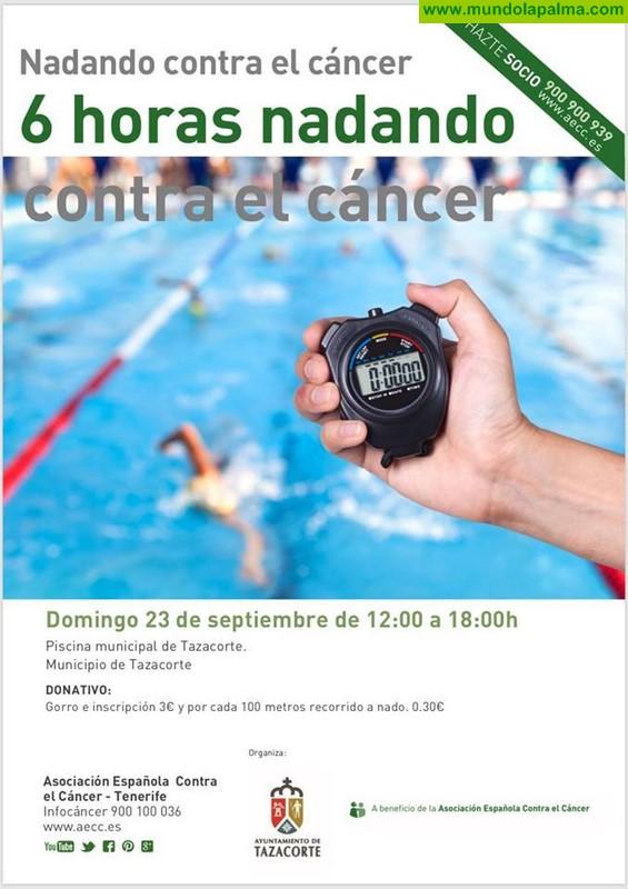 6 horas nadando contra el cáncer
